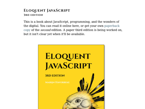 Eloquent JavaScript – A Modern Introduction to Programming