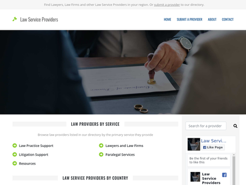 Law Service Providers Directory